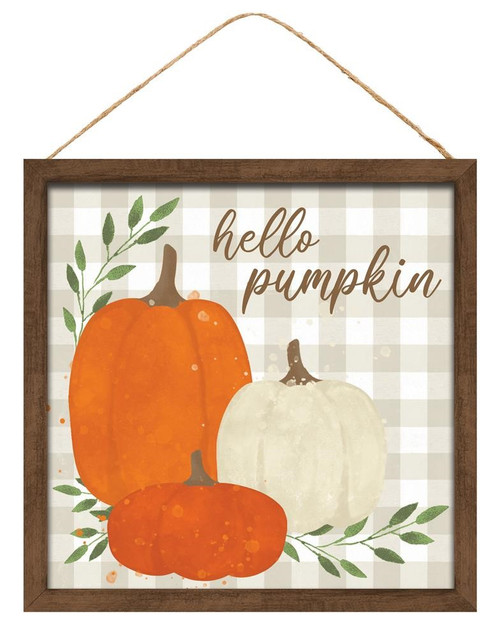 "10"" Hello Pumpkin Sign"