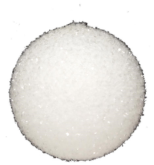 100mm White Tinsel Snowball Ornament
