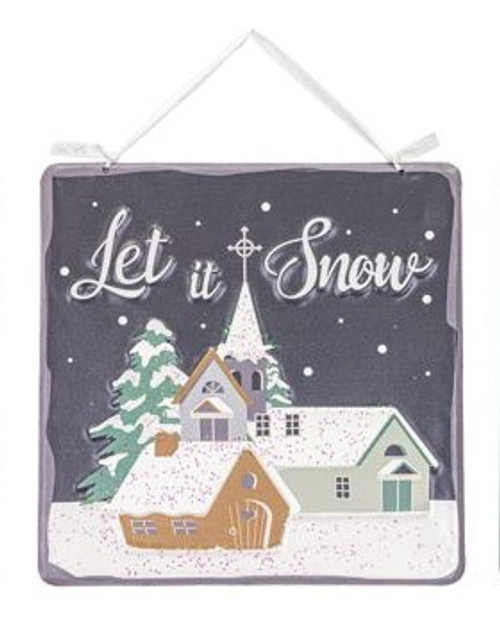 "8"" Metal Let It Snow Sign"