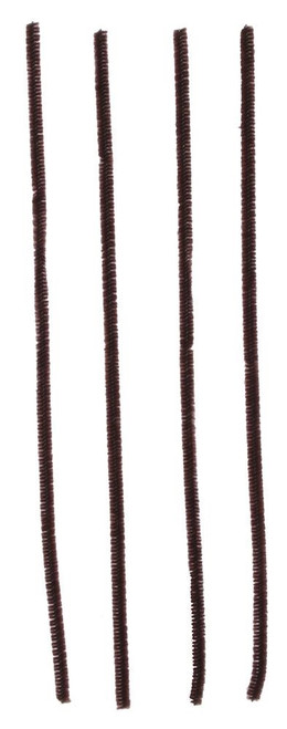 "12"" x 6mm Chenille Stems: Brown (100)"