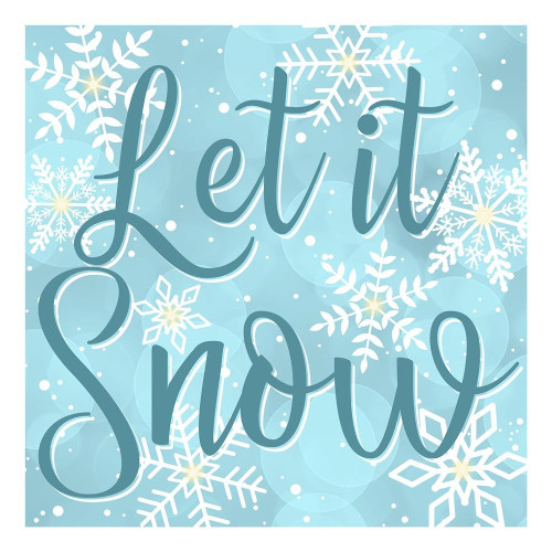 "10"" Let it Snow Light Up Sign"