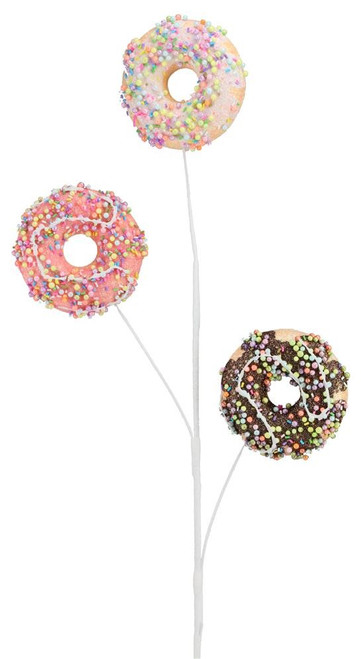 "28"" Glitter Donut Spray: Choc/Pink/White"