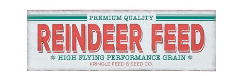 "18"" Vintage Reindeer Feed Sign"