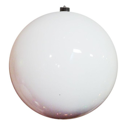 80mm VP Shiny Ball Ornament: White, Box of 6