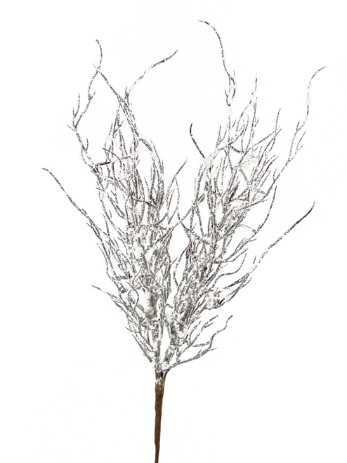 "23"" Snowy Wild Twig Spray"