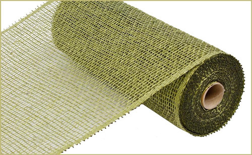 "10"" x 10yds Poly Burlap Mesh: Olive Green"