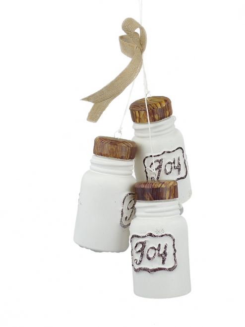 Farmhouse Bottle Ornament x 3