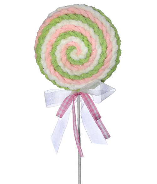 "26"" Fabric Frosting Lollipop Pick"