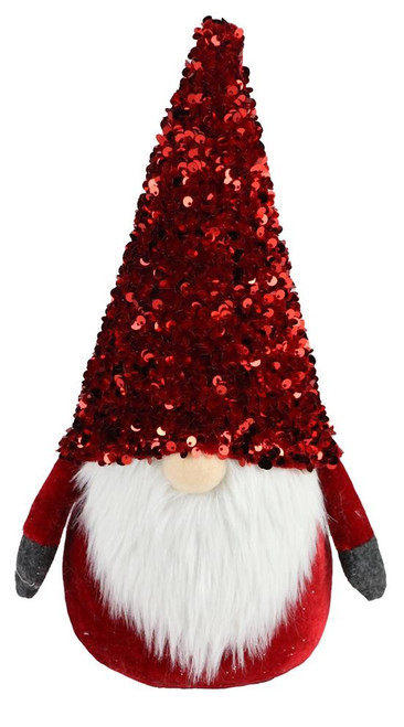 "12"" Red Sequin Santa Gnome"