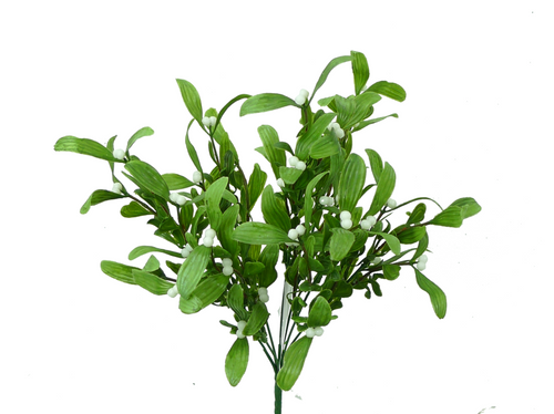 "15"" Plastic Mistletoe Bush"