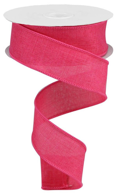 "New Hot Pink Royal Faux Burlap Ribbon - 1.5"" x 10Yd"