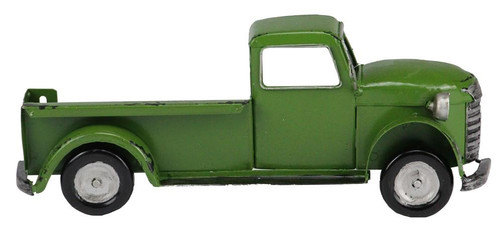 "10"" Metal Half Truck Attachment: Green"