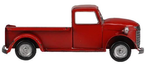 "10"" Metal Half Truck Attachment: Red"