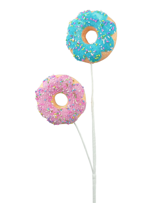 "24"" Sprinkle Donut Spray: Pink/Blue"