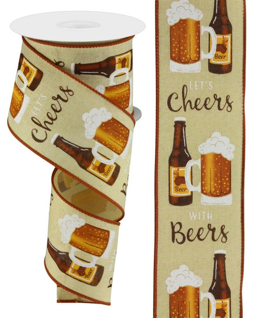 "2.5"" Cheers with Beers Ribbon - 10Yds"