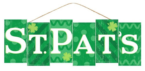 "14"" St. Pats Block Sign"