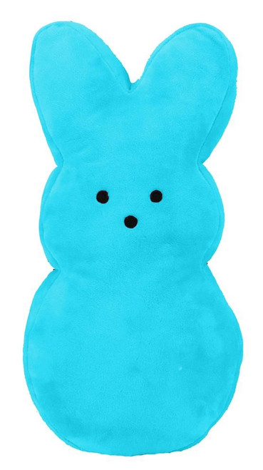 """15"""" Plush Fabric Bunny: Turquoise Blue (No Wires)"""