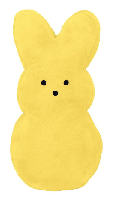 """15"""" Plush Fabric Bunny: Yellow (No Wires)"""