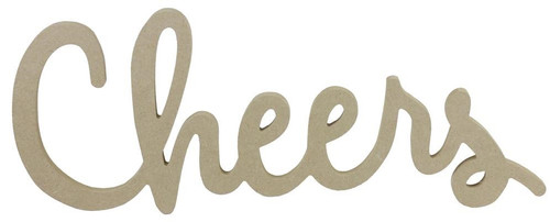 """17"""" Cheers Sign, MDF Unfinished"""