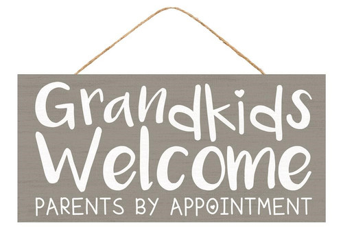 "12.5"" Grandkids Welcome Sign"