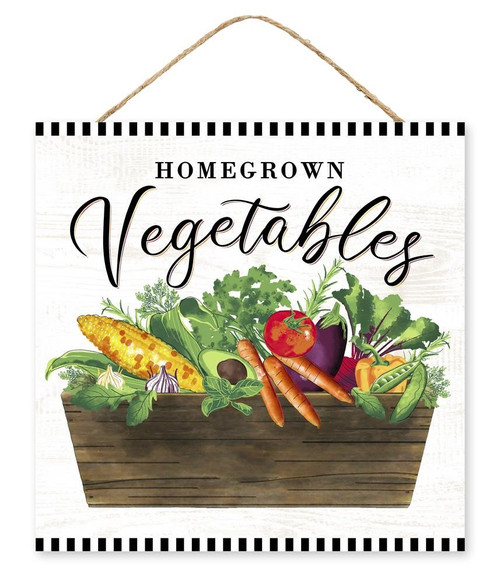 "10"" Home Grown Vegetable Sign"