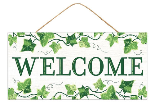 "12.5"" Welcome Sign w/ Ivy"