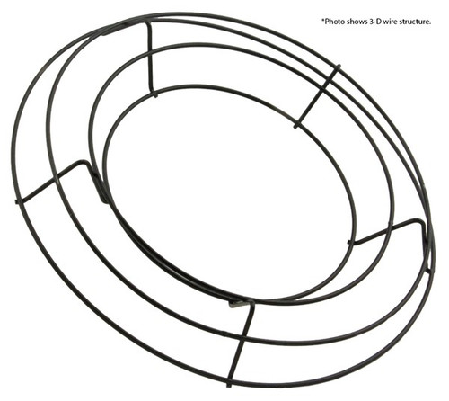 "10"" Arched Wire Wreath Frame x 4 Wires"