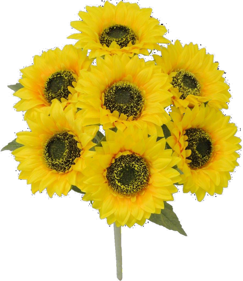 "18"" Sunflower Bush: Yellow (7)"