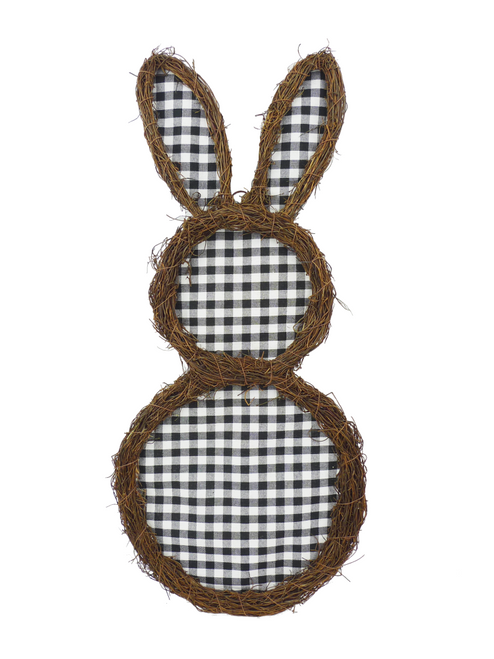 "26"" Blk/Wht Check Grapevine Rabbit"