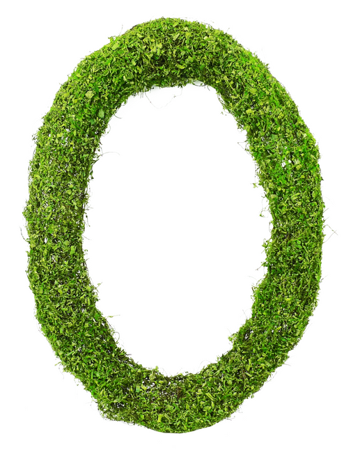 "24"" Moss Oval Wreath"