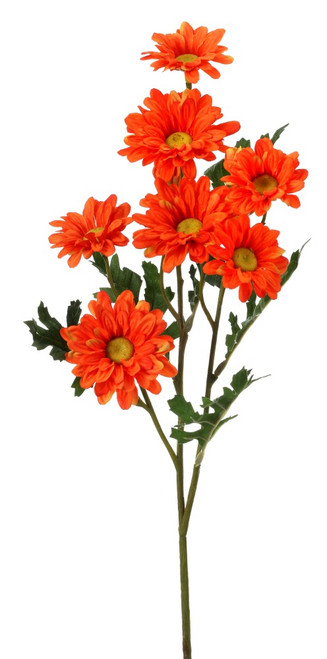 "25"" Daisy Spray: Orange (7)"