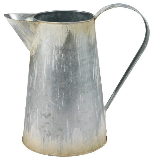 "9"" Antique Galvanized Pitcher"