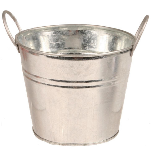 "5.25"" Dia Galvanized Pot"