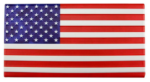 "12"" Embossed Metal American Flag"