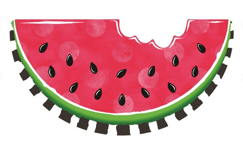 "12"" Embossed Metal Watermelon: Polka Dot/Stripe"