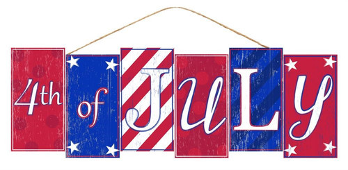 "14"" 4th of July Block Sign"