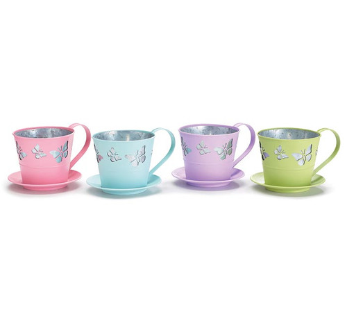 Butterfly Tea Cup Planters