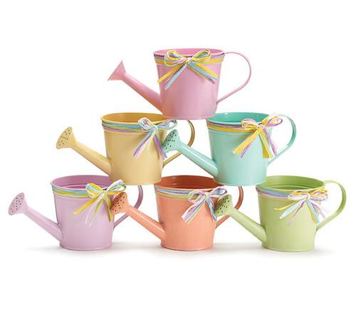 Spring Color Watering Can Planters