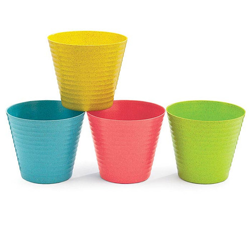"""4"""" Bright Color Recycled Pot Covers"""