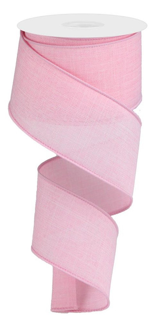 "Lt Pink Royal Faux Burlap Ribbon - 2.5"" x 10Yd"