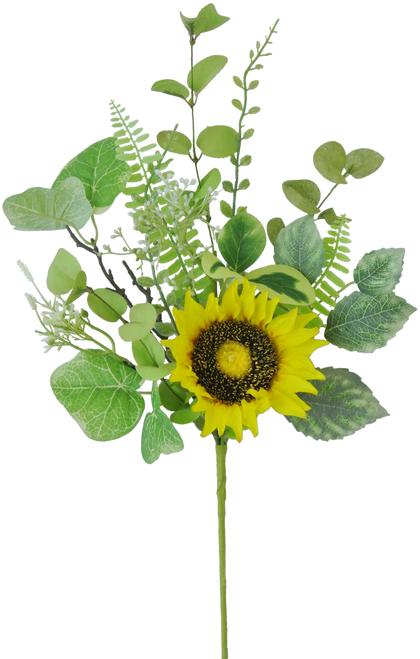 "19"" Sunflower Greenery Spray"