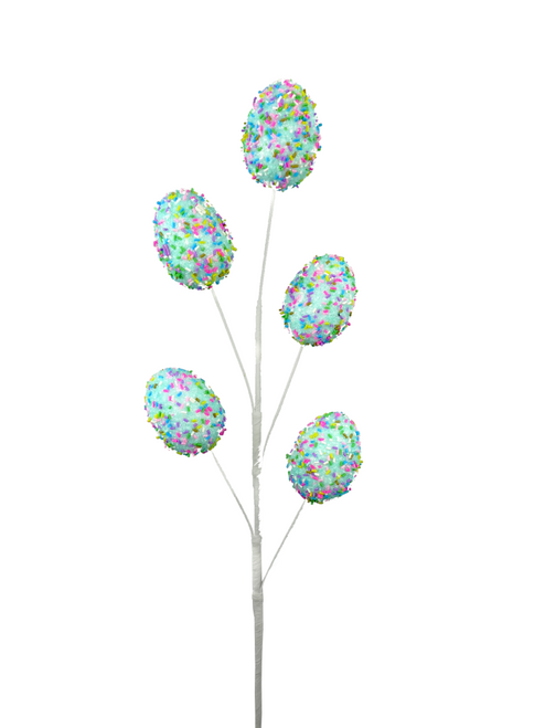"27"" Sprinkle Easter Egg Spray: Blue"