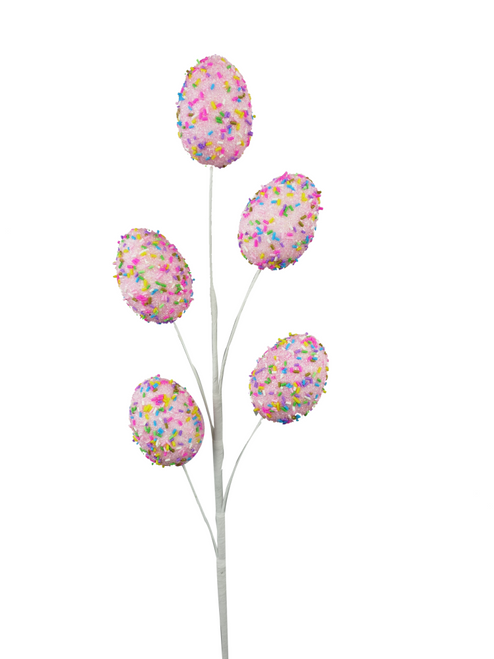 "27"" Sprinkle Easter Egg Spray: Pink"