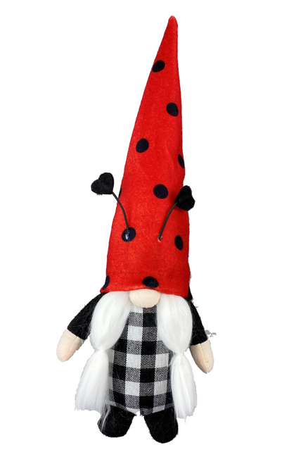 "24"" Red/Black Ladybug Gnome Pick"