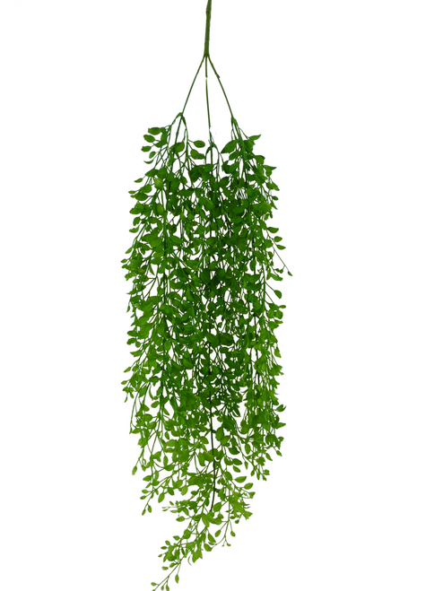 Plastic Button Leaf Hanging Bush - 33""
