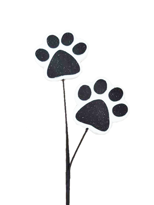 "18"" Black/White Paw Print Spray"