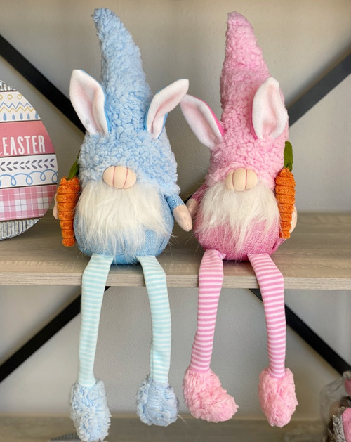Plush Easter Gnomes Sitters: Pink/Blue