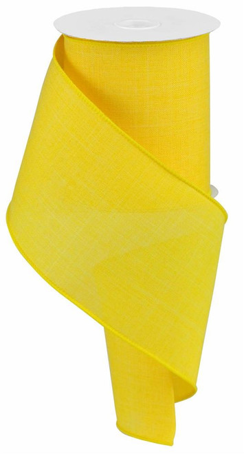 "Sun Yellow Royal Faux Burlap Ribbon - 4"" x 10Yd"
