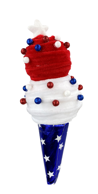 "13"" Patriotic Ice Cream Cone"