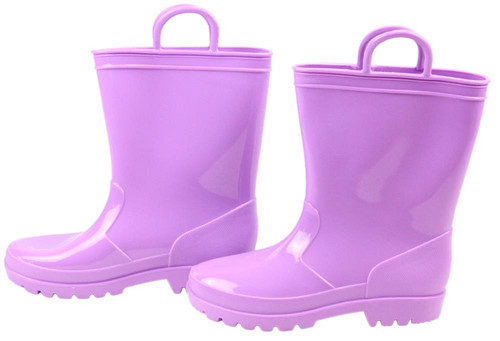 Rubber Rain Boot Containers (Set of 2): Lavender